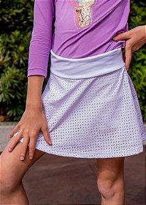Shorts Saia Infantil Branco em Tela