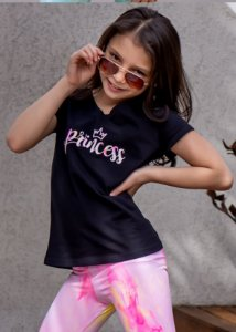 T-shirt Infantil Princess Splash Neon