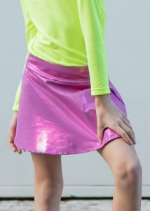 Shorts Saia Pink com Brilho Metalic