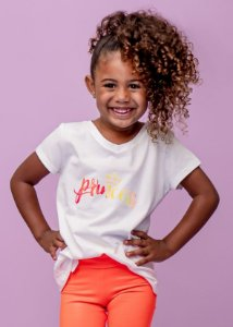 T-shirt Infantil Princess Splash Gola V