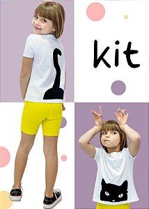 Kit Especial Dia das Crianças Bermuda + T-shirt Gato