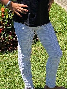 Legging Infantil Branca Nervura