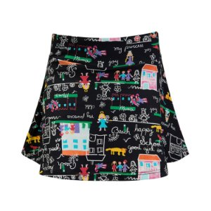 Shorts saia estampa casinha