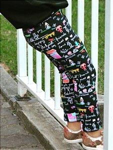 Legging Infantil Casinha