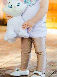 Legging Infantil Dourado Rosê Cirrê