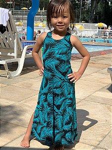 Vestido Infantil Folhagem