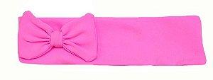 Faixa com laço rosa chiclete