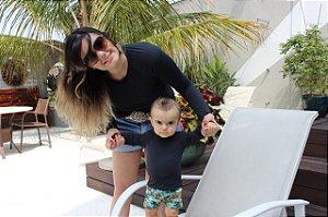 T-shirt Black com Proteção Solar Bebê e Infantil