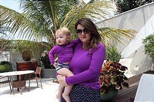 T-shirt Purple com Proteção Solar Bebê e Infantil