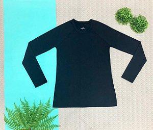 T-shirt Black com Proteção Solar Adulto
