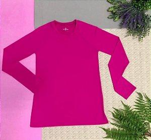 T-shirt Pink com Proteção Solar Adulto