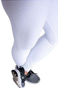 Legging Adulto Branca Trabalhada