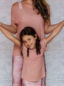T-shirt Infantil Tule Dupla Face Collab Elaine Violini