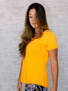 T-shirt Adulto Crepe Laranja Neon