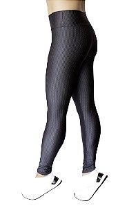 Legging Adulto Chumbo Texturizada Quadrados