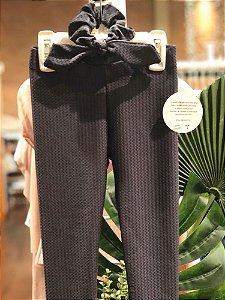 Legging Infantil Chumbo Texturizada Quadrados