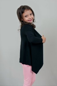 Cardigan Infantil Preta
