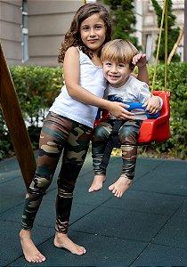 Legging Infantil  Camuflada