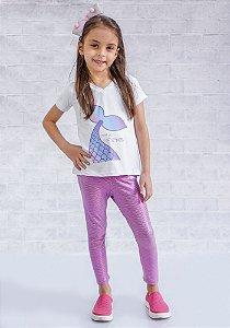 Legging Infantil Escamas Pink