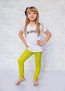 Legging Infantil Escamas Sereia Amarela