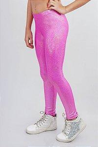 Legging Infantil Pink Brilho Furta Cor