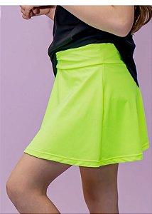 Shorts Saia Infantil Amarelo Neon