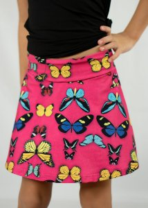 Shorts Saia Infantil Borboletas