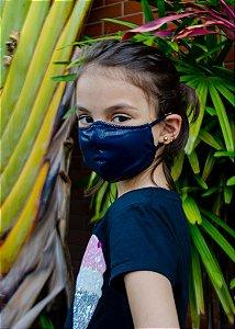 Máscara Infantil Marinho Com Brilho