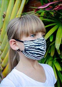Máscara Infantil Zebra