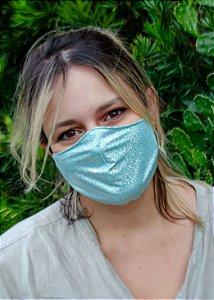 Máscara Feminina Verde Sereia