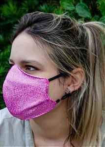 Máscara Feminina Pink Brilhante