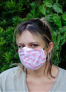 Máscara Feminina Estampa Rosa