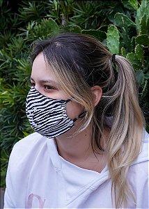 Máscara Feminina Zebra