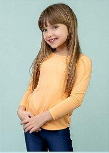T-shirt Infantil Laranjinha Manga Longa