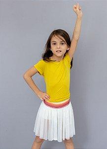 T-shirt Em Visco Infantil Mostarda
