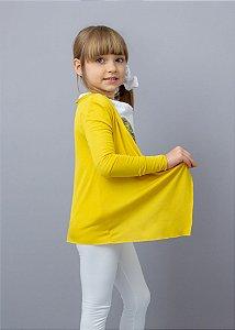 Cardigan Infantil Mostarda