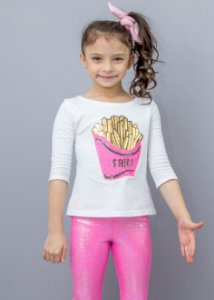 Manga 3/4 Infantil French Fries