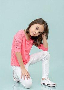 Legging Branca Com Escamas Infantil