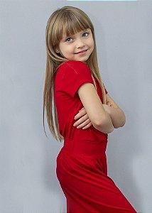 T-shirt Em Visco Infantil Red Rouge