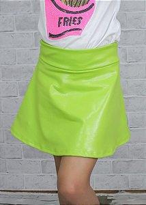 Shorts Saia Verde Limão Com Brilho