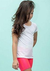 T-shirt Infantil Crepe Branca Manga Curta