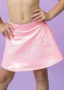 Shorts Saia Infantil Coral Com Brilho