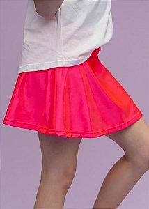 Shorts Saia Infantil Coral Cirre Brilhante