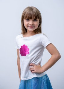 T-shirt Decote Canoa Mermeid