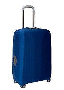 Capa Protetora Para Mala Azul com Detalhe