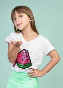 T-shirt Branca Melancia