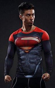Camisa Superman Red Manga Longa