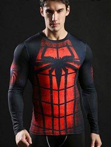 Camisa Homem Aranha Manga