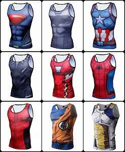 Camisa Regata herois variados
