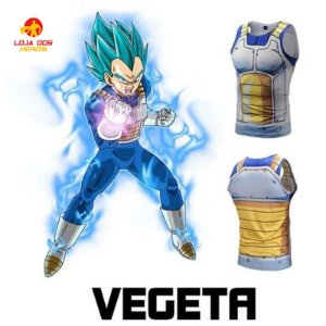 Camisa Vegeta SSJ Blue - Dragon Ball Super